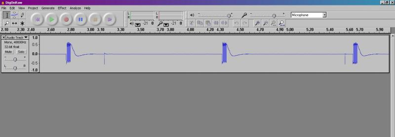 Audacity output for RF2 pulse