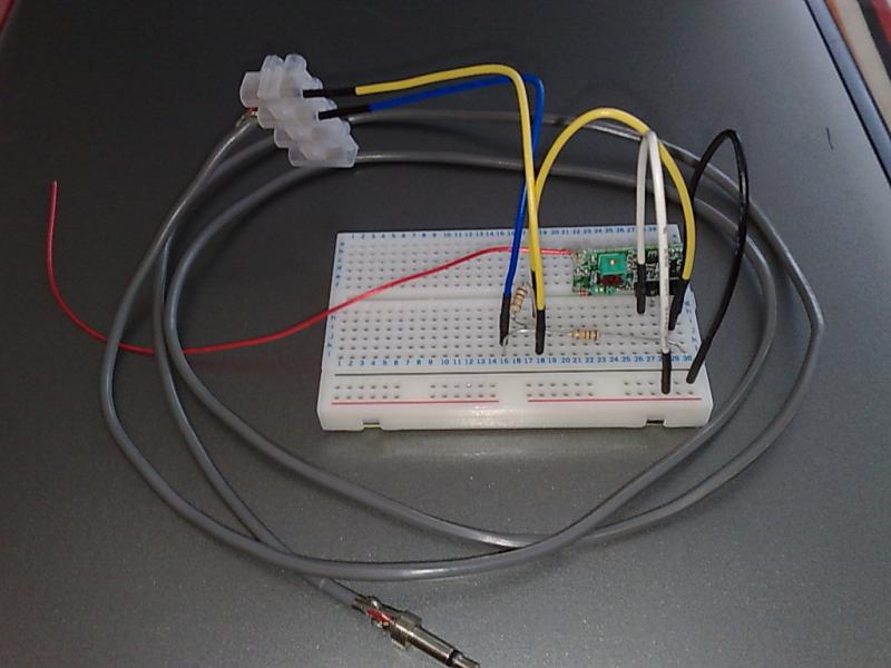 Rx on breadboard