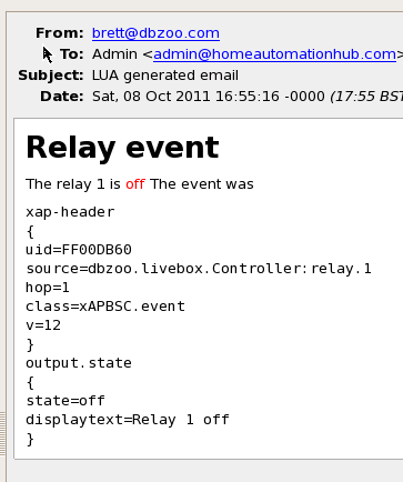 Relay Event off